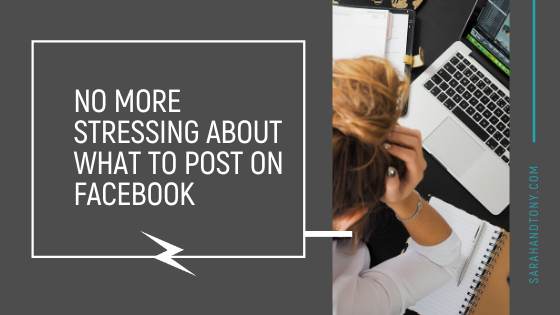 No More Stressing about what to Post on Facebook
