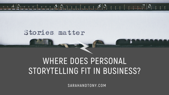 personal storytelling in business